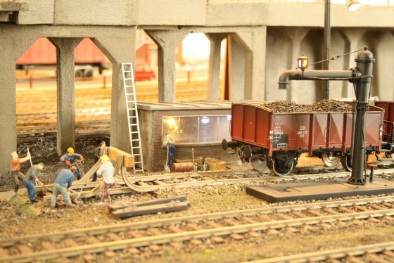 Gleisbauarbeiten Spur 1