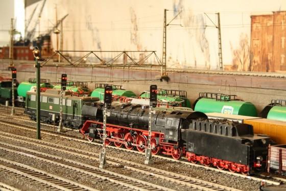 Alte Dampflokomotive in Hamburg