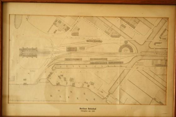 Hamburg Berliner Bahnhof Gleisplan von 1850
