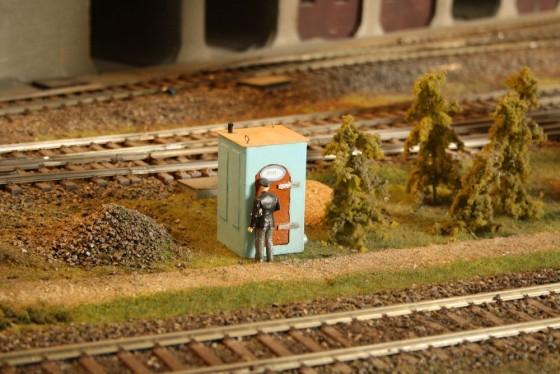 Dixiklo mit Schaffner in Spur 1