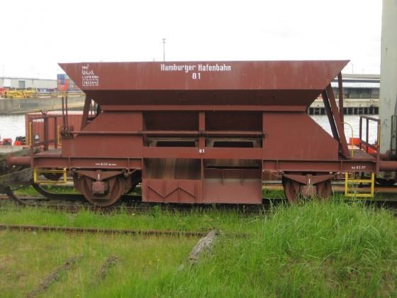 Schotterwagen der Hamburger Hafenbahn