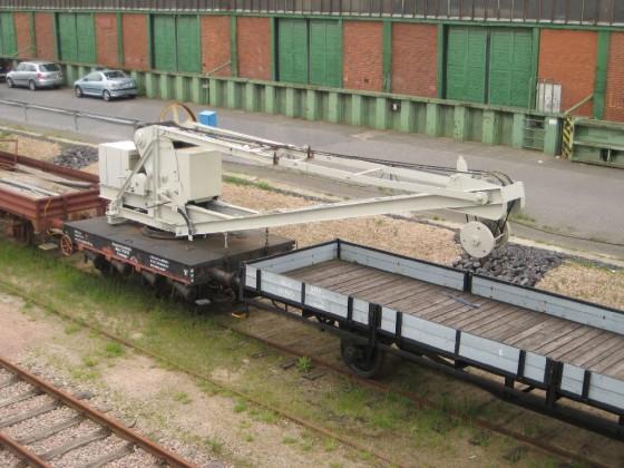 Kranwagen der Hamburger Hafenbahn
