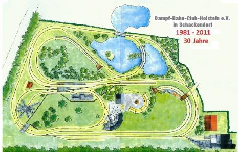 Gleisplan des Dampf-Bahn-Club Holstein in Schackendorf