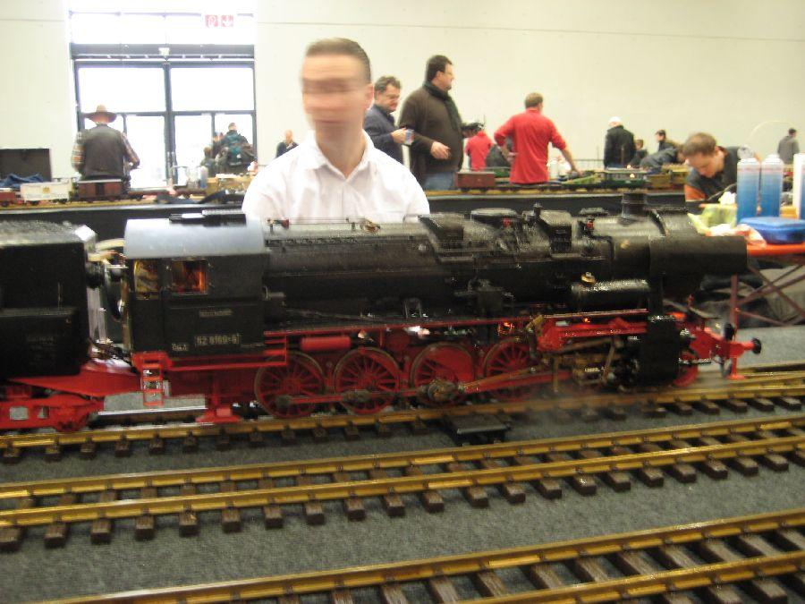 BR52 Live Steam Eigenbau Echtdamphallentreffen 2013