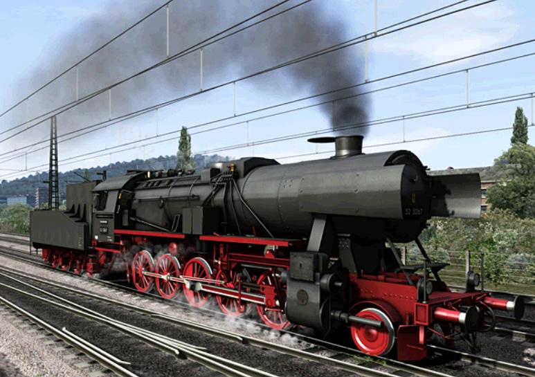 Eisenbahn-Spiele: Dampflok-Simulator