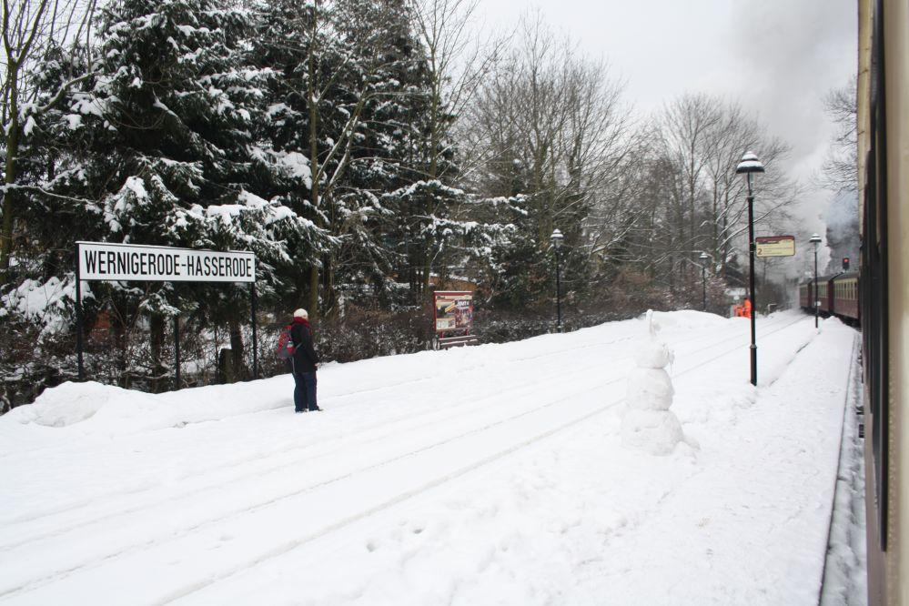 Harzer Schmalspurbahn Brocken Bahnsteig