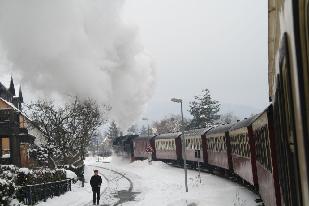 Harzer Schmalspurbahn Brocken Echtdampf