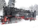 Harzer Schmalspurbahn: auf den Brocken im Schnee
