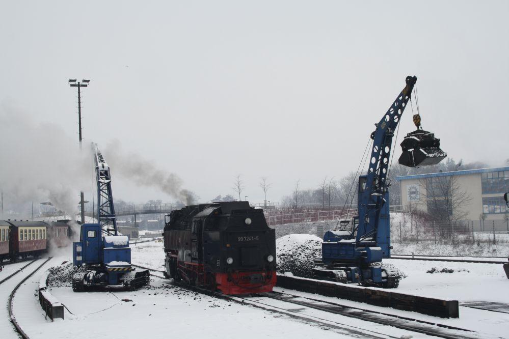 Harzer Schmalspurbahn Brocken Kohlekran