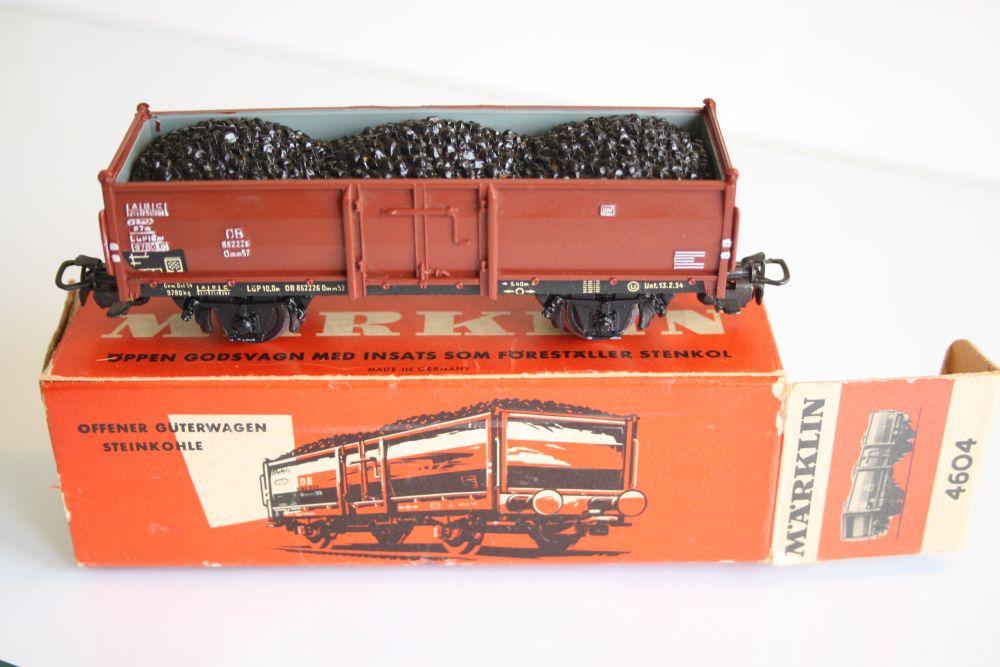 Märklin 4604 Offener Güterwagen Steinkohle
