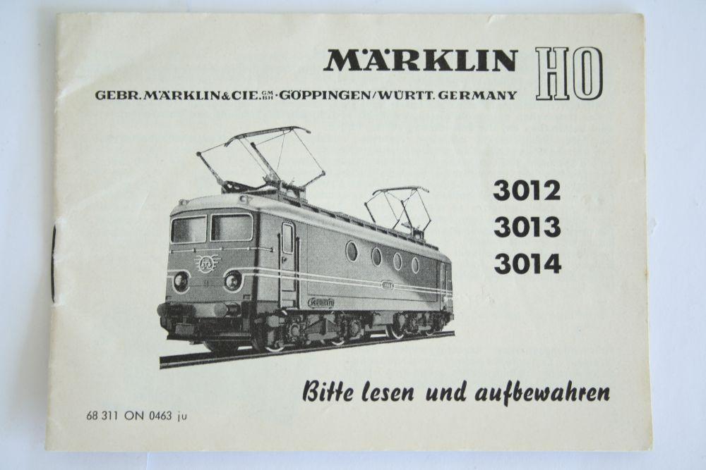Märklin 3012 Anleitung
