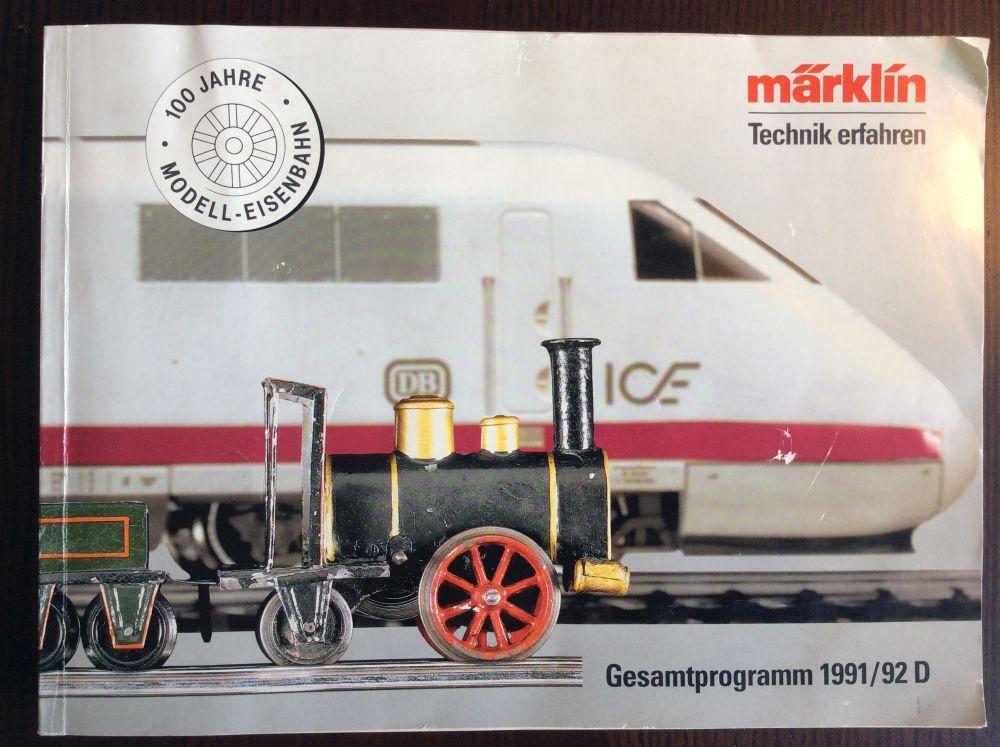 Märklin Hauptkatalog 1991-1992