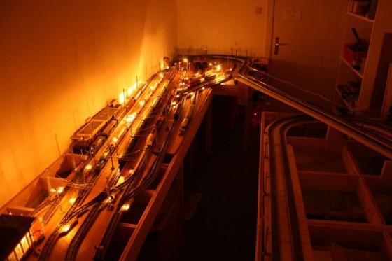 Modellbahn-Anlagenbau Schattenbahnhof