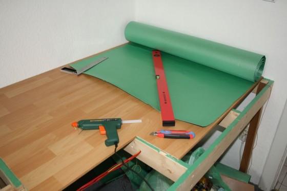 Modellbahn-Anlagenbau Trittschalldämmung