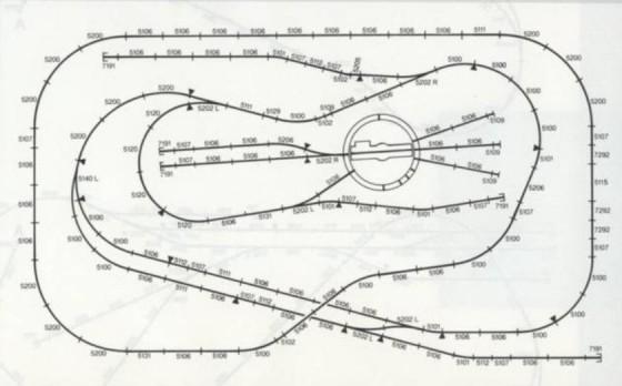 Gleisplan mit Drehscheibe