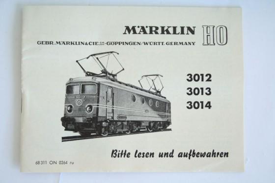 Märklin 3013 Anleitung