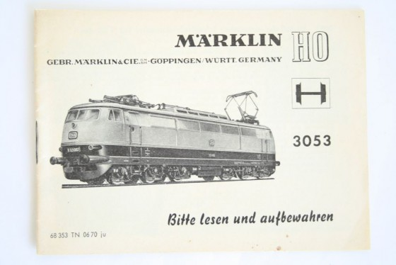 Märklin 3053 Anleitung