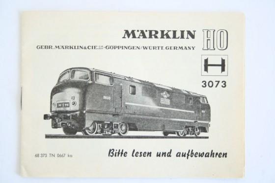 Märklin 3073 Anleitung
