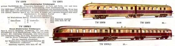 TW 12970 im Märklin -Katalog von 1935