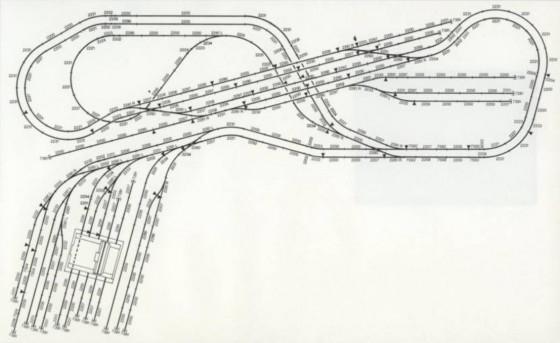 Modellbahnanlage mit Kopfbahnhof
