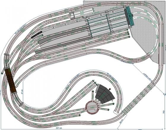 Modelleisenbahn-Anlage mit Kopfbahnhof