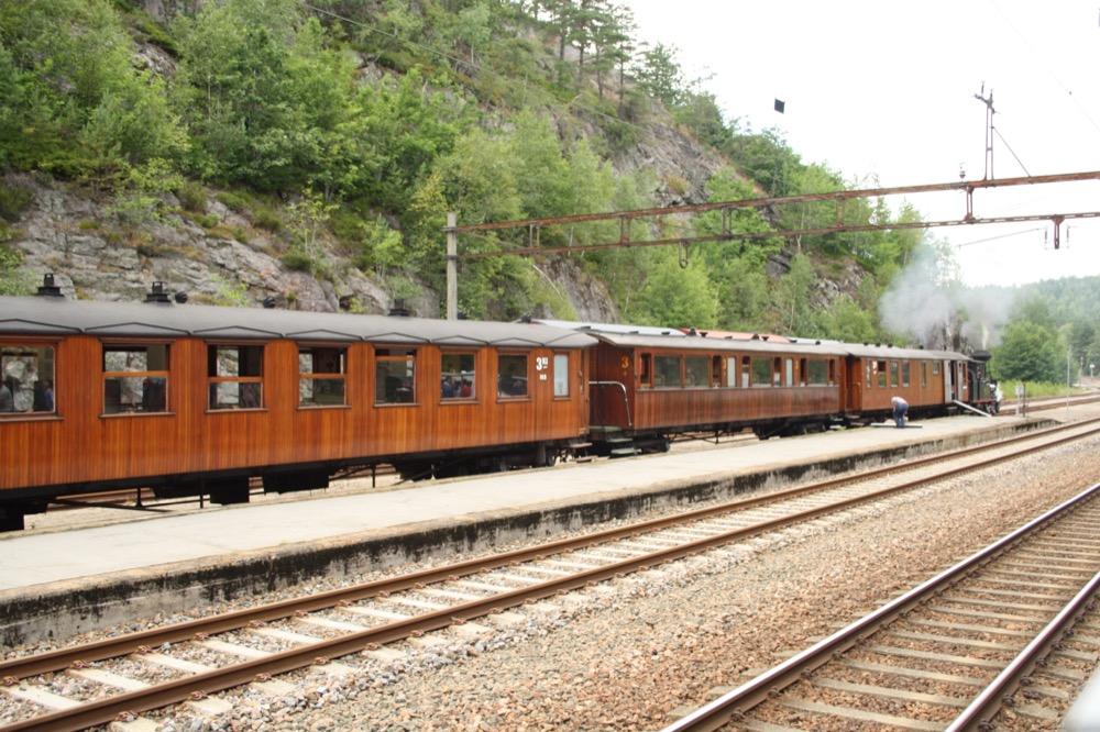 Personenwagen der Schmalspurbahn Setesdalbanen