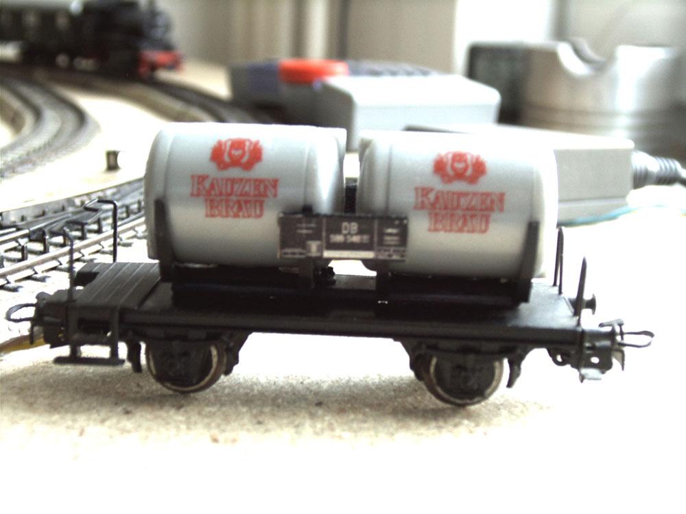 Umbau eines Güterwagen Märklin Bierwagen