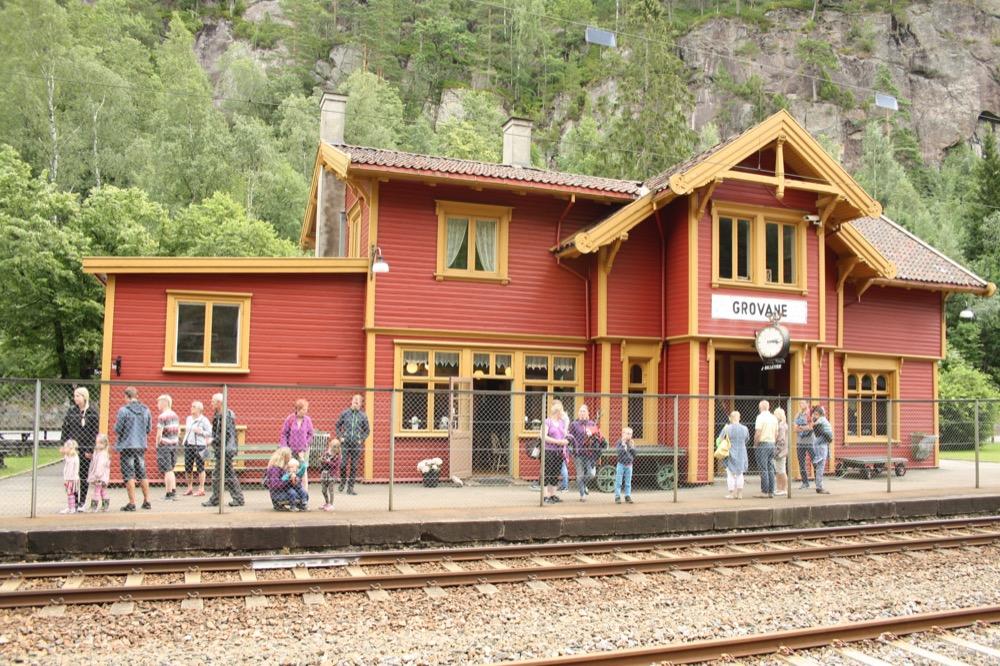 Bahnhof Grovane Setesdalbanen