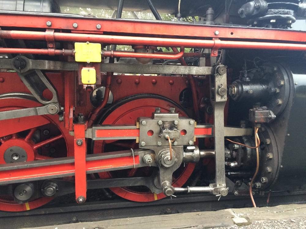 Dampflok Zylinder und Kreuzkopf
