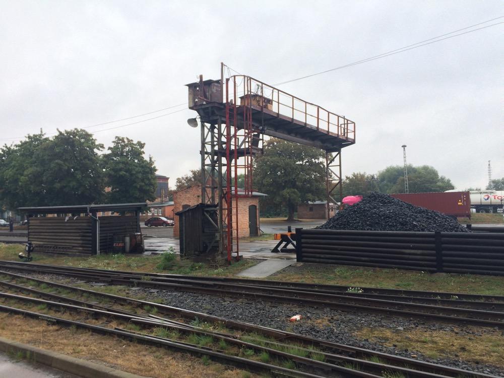 Dampflok Bekohlungsanlage Mansfeld