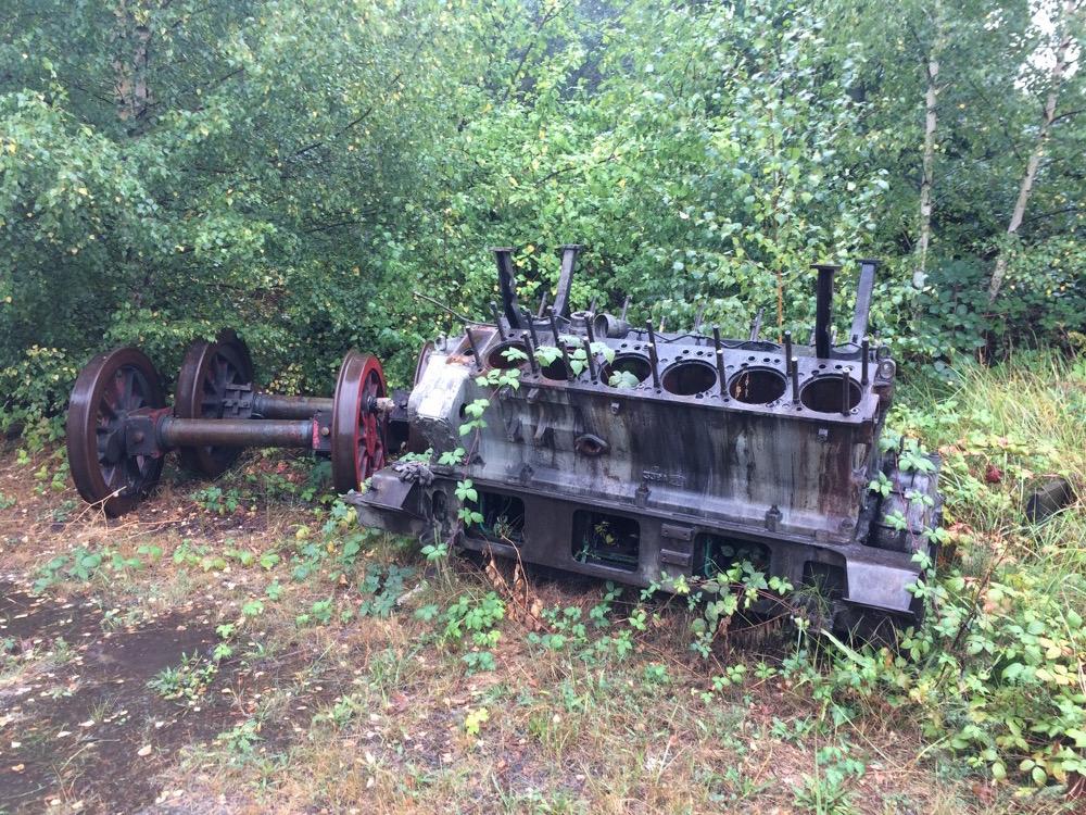 Dieselmotor-Ersatzteile einer Diesellok