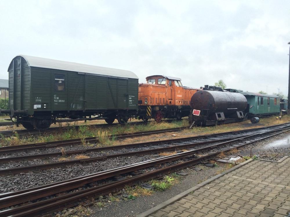 Güterwagen auf Abstellgleis