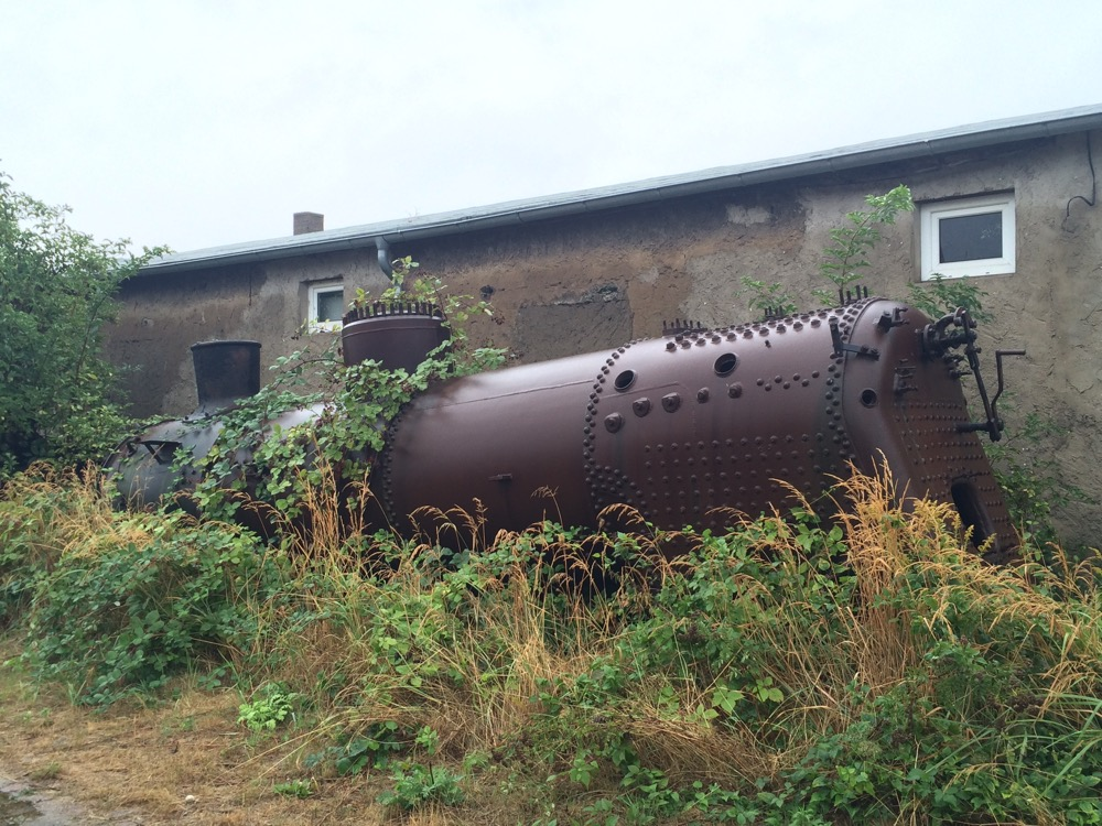 Verrosteter Dampfkessel