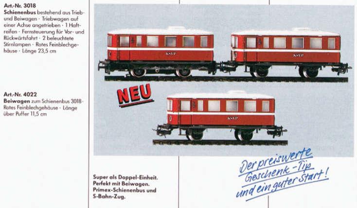 Märklin Primex 3018 Schienenbus