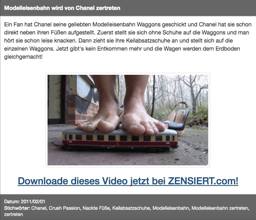 Zug-Fetisch: Modelleisenbahn wird von Chanel zertreten