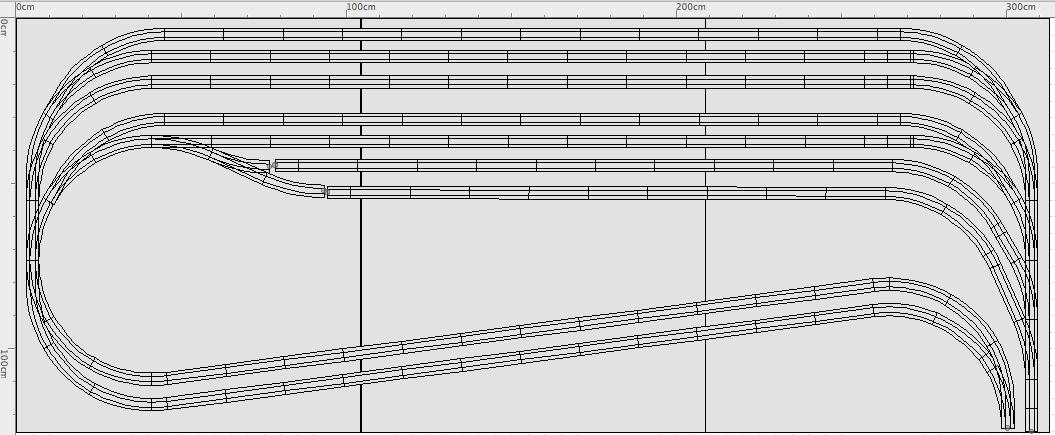 Schattenbahnhof Gleisplan Spurweiten H0 N Z TT